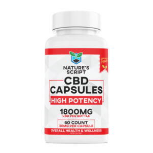 High Potency CBD Capsules 60-Count front