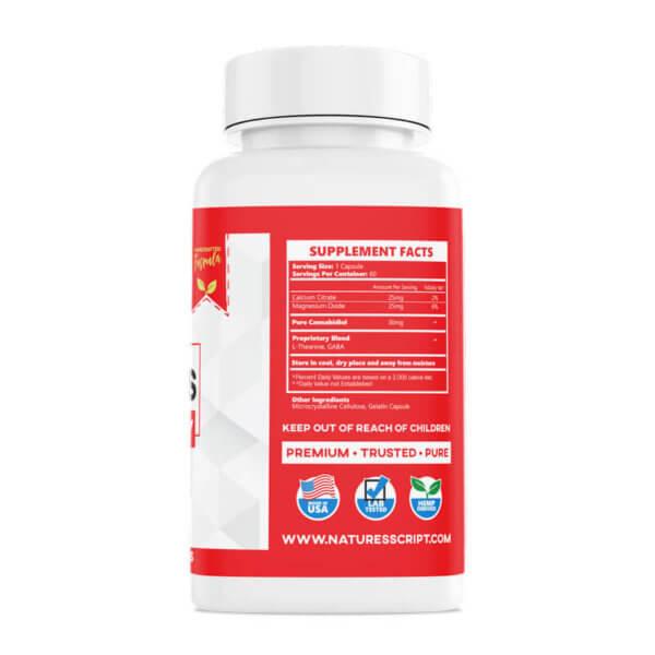 High Potency CBD Capsules 60ct right