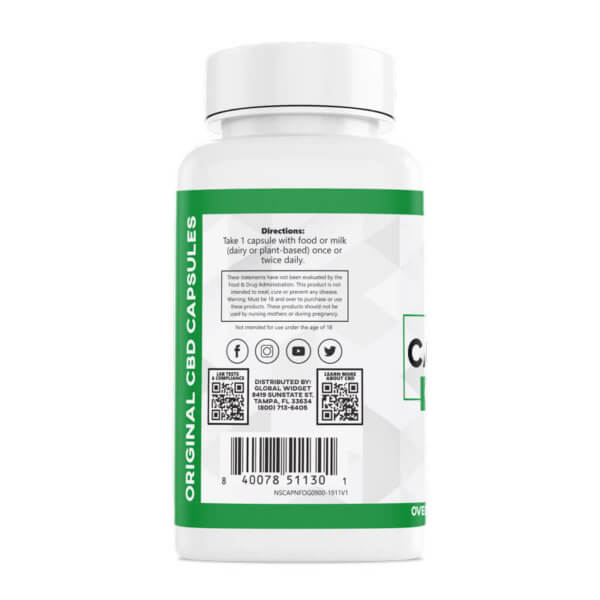 Original CBD Capsules 60-Count left