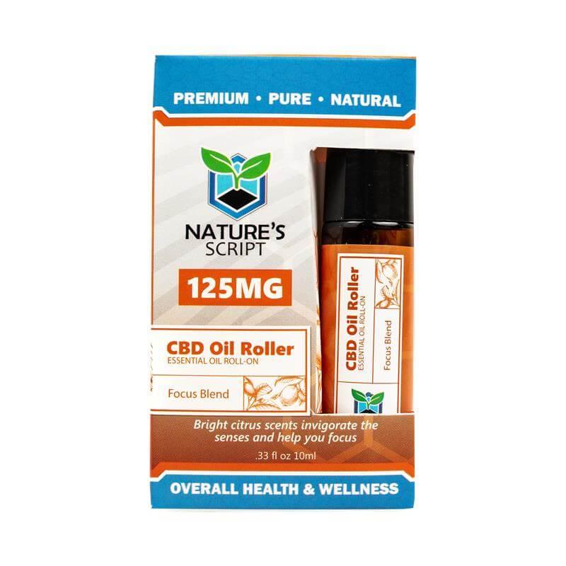 CBD Essential Oil Roller - Focus Blend
