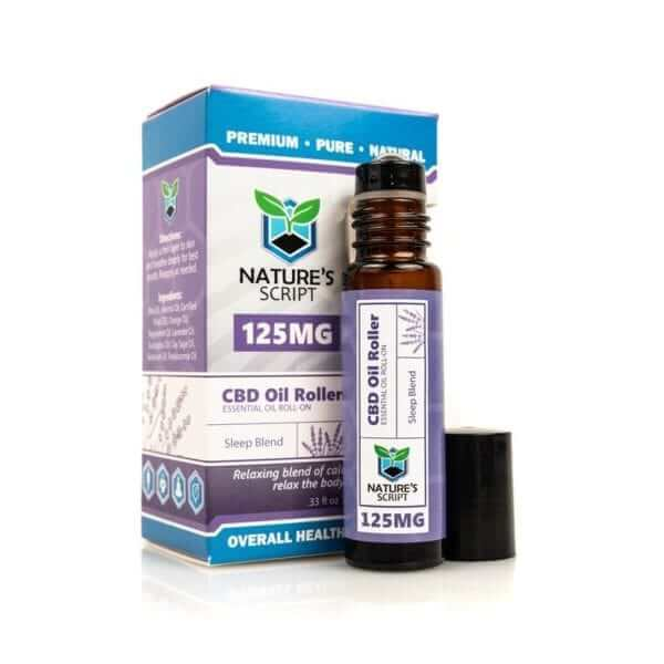 Nature's Script CBD Essential Oil Roller Sleep Blend