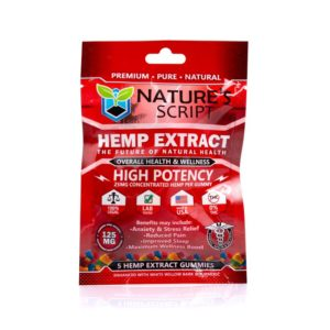 Nature's Script High Potency CBD Gummies 5 Count