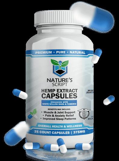 Nature's Script CBD for sale online – Hemp Extract Capsules
