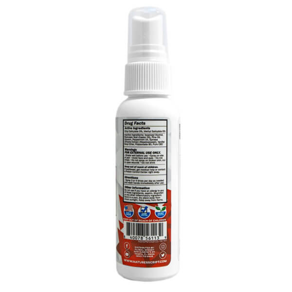 cbd heat relief spray back
