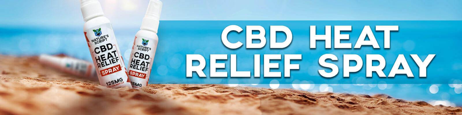 cbd heat relief spray banner