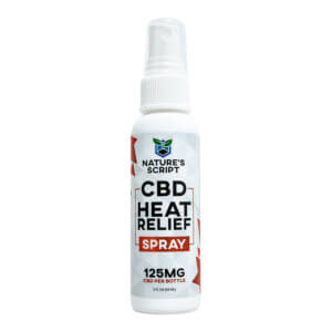 cbd heat relief spray