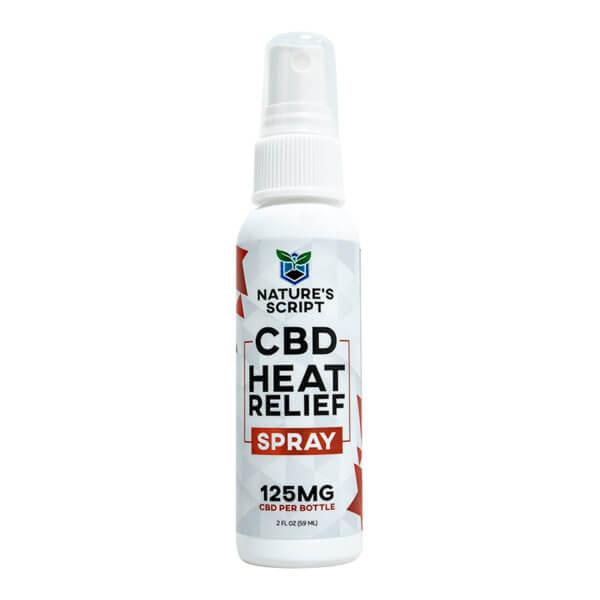 cbd heat relief spray