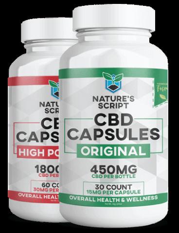 Nature's Script Premium CBD Products: CBD Capsules