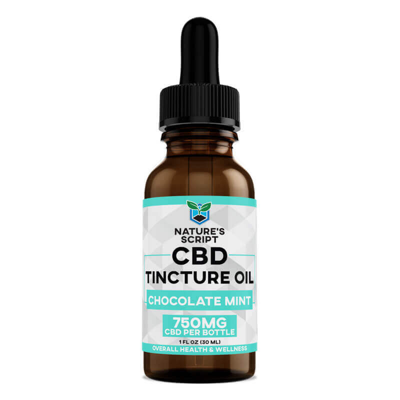 CBD Oil Chocolate Mint 750mg front