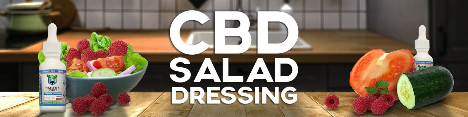CBD Recipe - Raspberry Vinaigrette CBD Salad Dressing