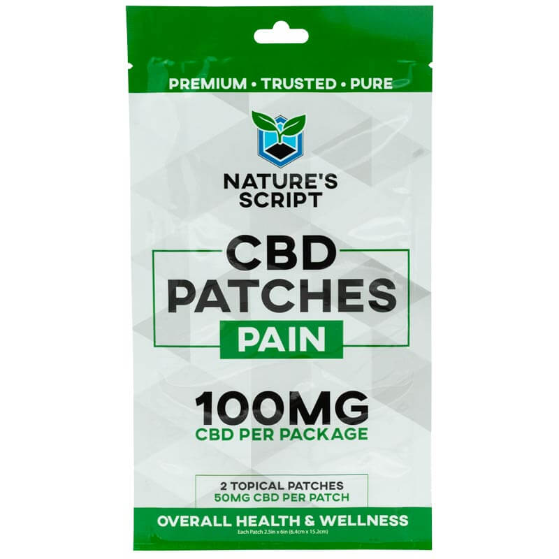 CBD Patches Pain100mg front