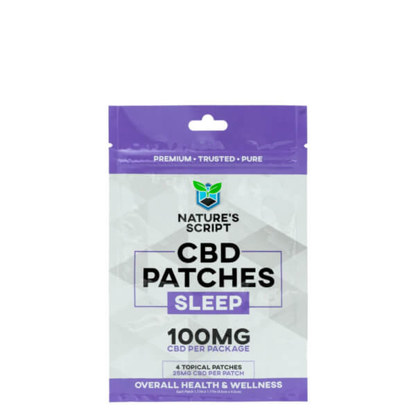CBD Patches Sleep 100mg front