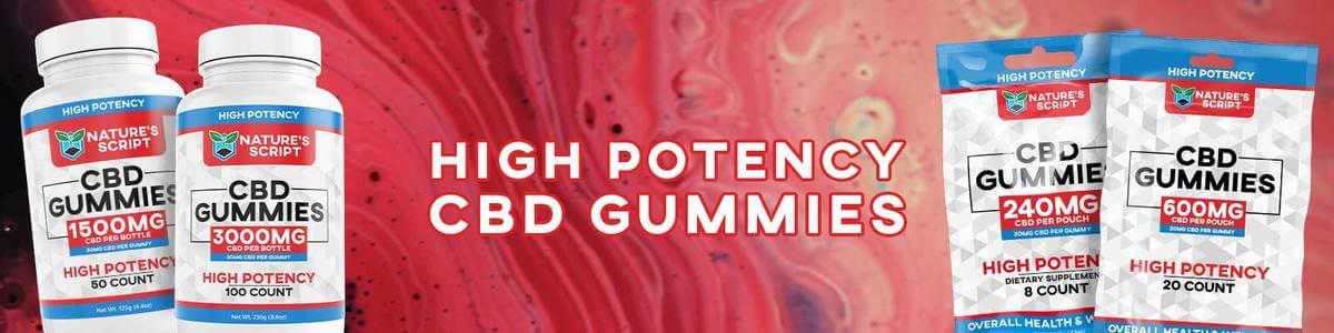 High Potency CBD Gummies Banner