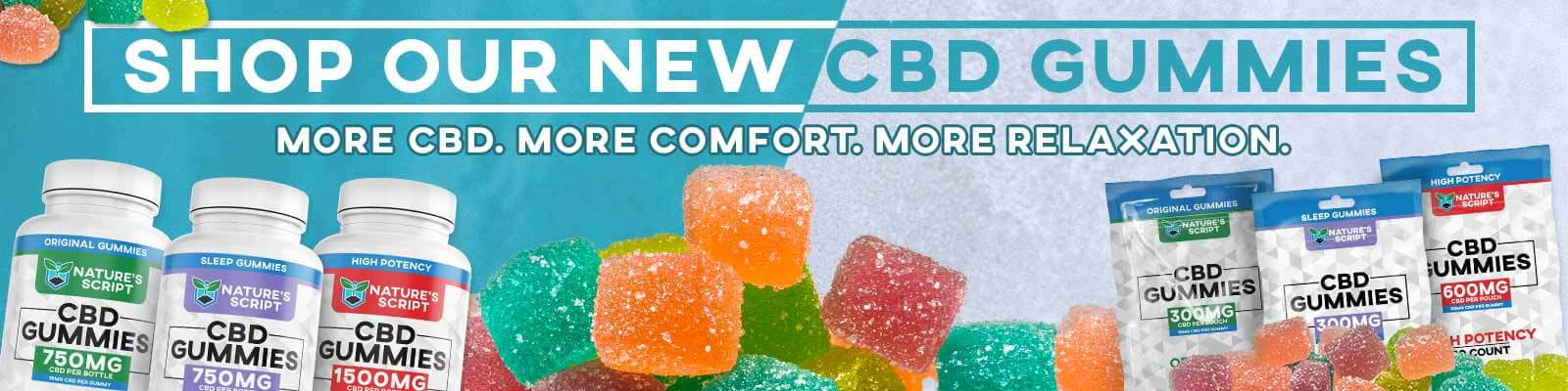 New CBD Gummies Homepage Banner