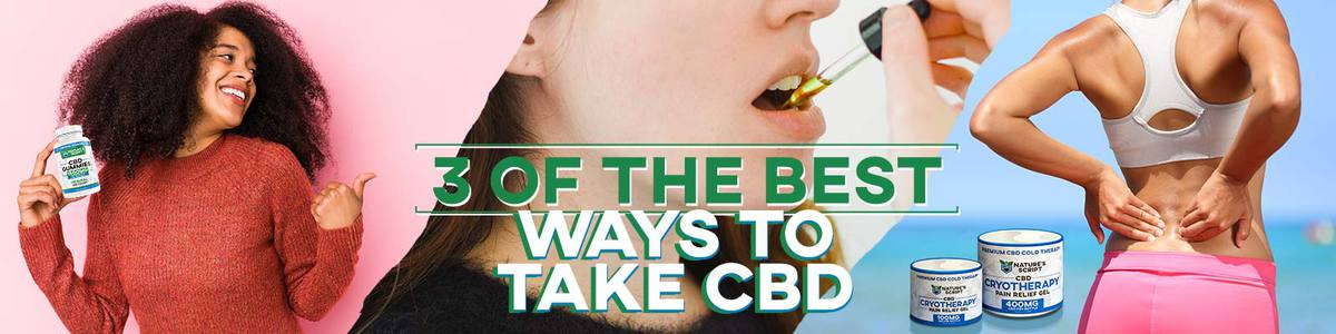 Best Ways to Take CBD Banner