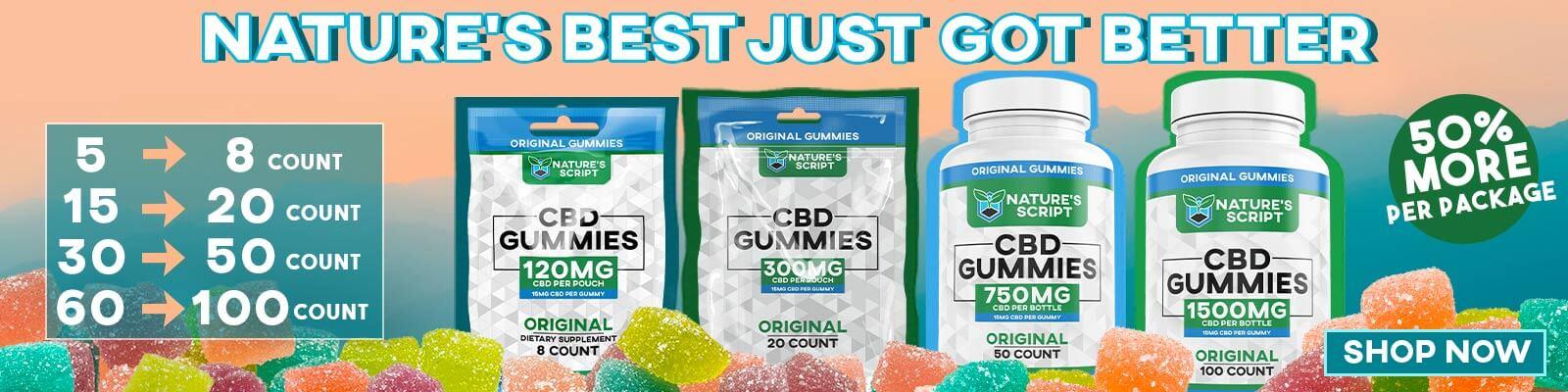 Nature's Script CBD Gummies Homepage Banner