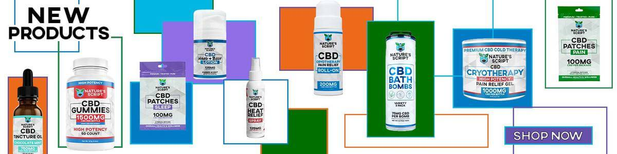 new cbd products banner