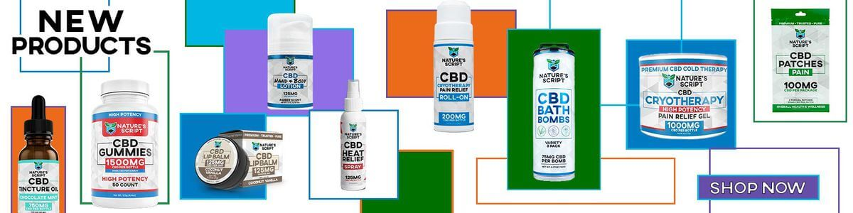 New CBD Products Banner Update