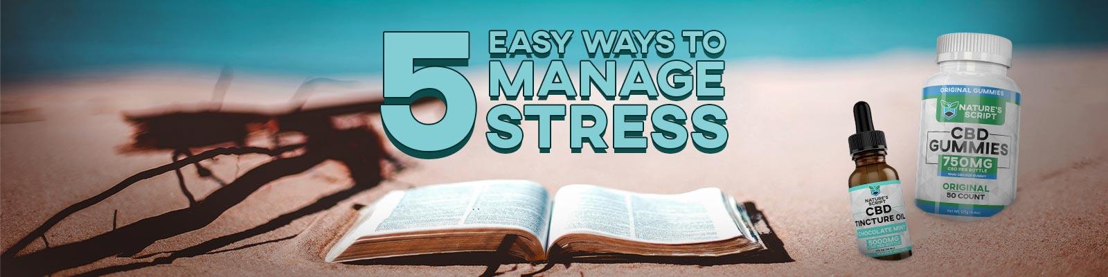 5 Ways to Manage Stress